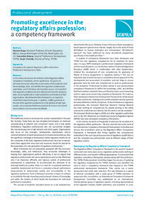 TOPRA Competency Framework article