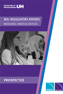 MSc Regulatory Affairs Prospectus