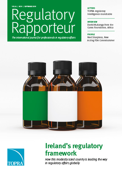 Regulatory Rapporteur September 2019