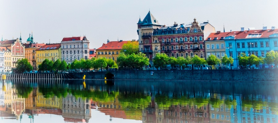 Prague riverfront