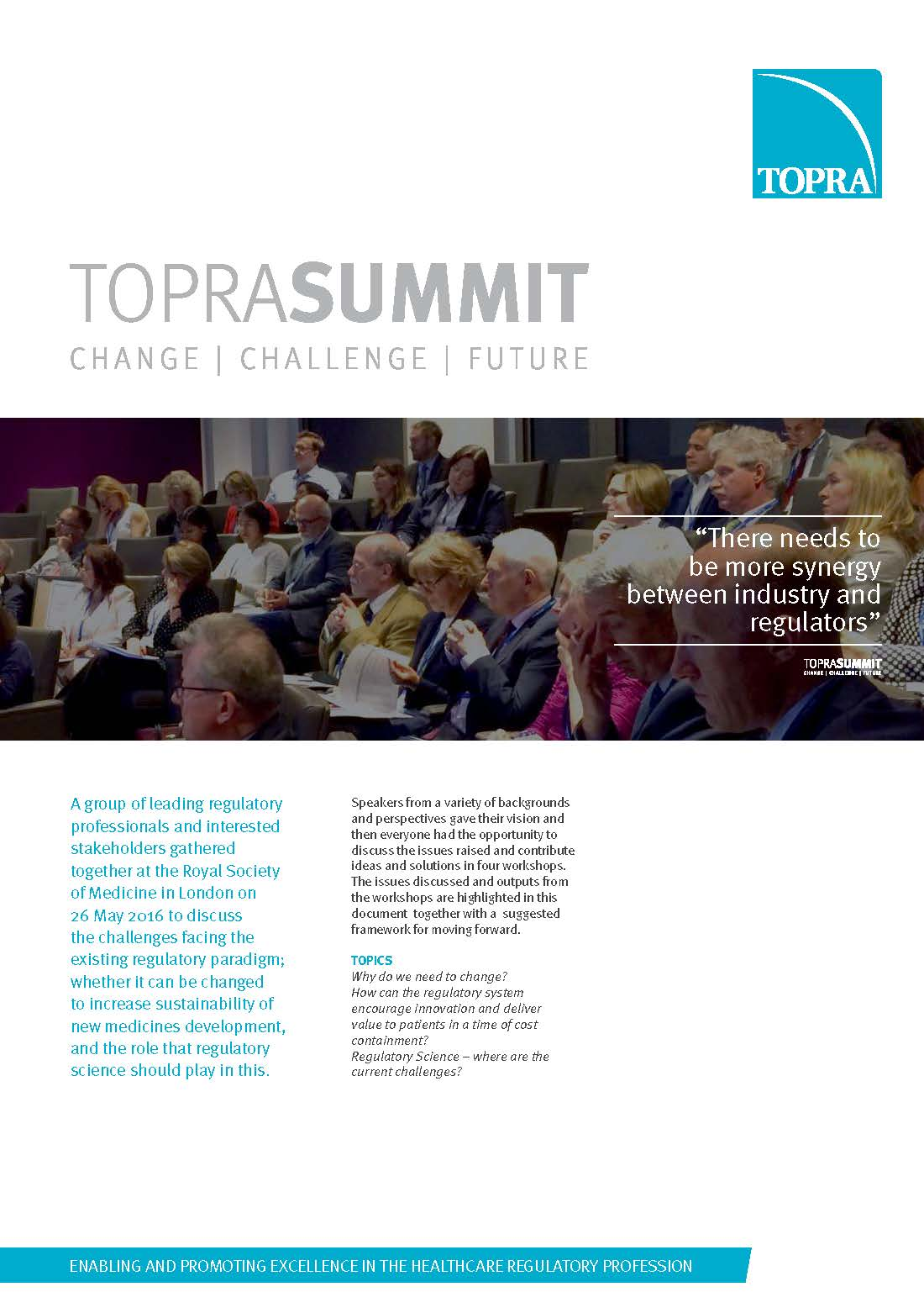 TOPRA Summit report