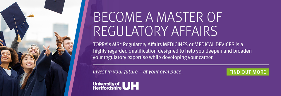 Regulatory Affairs MSc Programmer banner